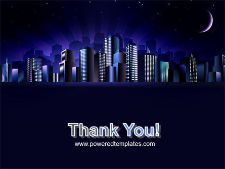 Night City PowerPoint Template Slide 20