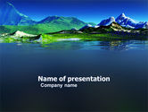 Nature & Environment: Mountain Lake PowerPoint Template #03534