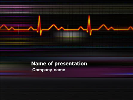Electrocardiography PowerPoint Template, 03538, Medical — PoweredTemplate.com