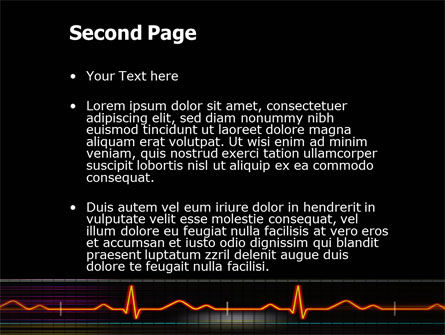 Electrocardiography PowerPoint Template, Slide 2, 03538, Medical — PoweredTemplate.com