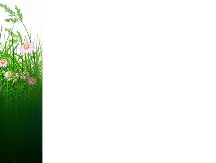 Wildflowers Field PowerPoint Template, Slide 3, 03540, Nature & Environment — PoweredTemplate.com