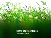 Nature & Environment: Wildflowers Field PowerPoint Template #03540