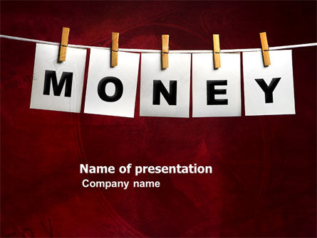 Money Cleaning PowerPoint Template, 03541, Financial/Accounting — PoweredTemplate.com