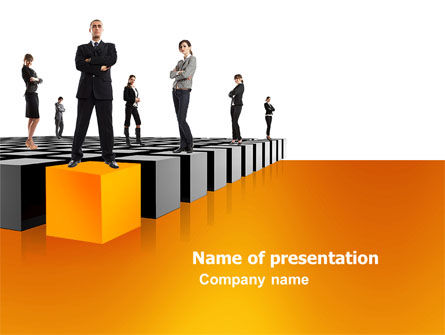 Leadership Training Progress PowerPoint Template, 03542, Business Concepts — PoweredTemplate.com