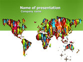 Global: World Diversity PowerPoint Template #03543