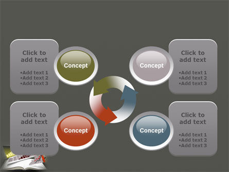 Diagram In The Book PowerPoint Template Slide 9