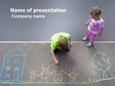 Education & Training: Street Drawings PowerPoint Template #03549