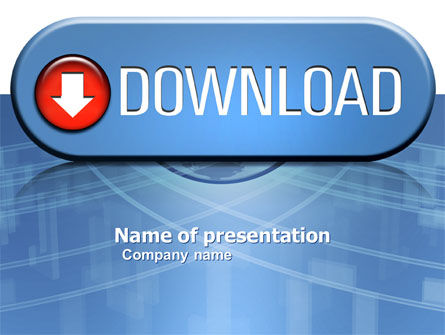 Download Button PowerPoint Template, 03550, Technology and Science — PoweredTemplate.com