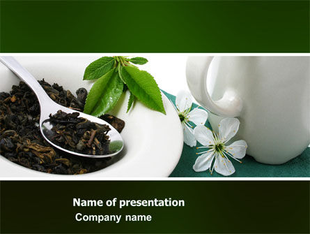Food & Beverage: Green Tea Ceremony PowerPoint Template #03551