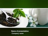 Food & Beverage: Green Tea Ceremony PowerPoint Template #03551