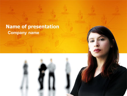 Networking PowerPoint Template, 03552, Careers/Industry — PoweredTemplate.com