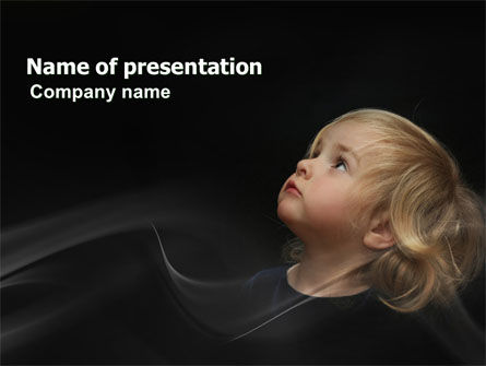 Child Listens PowerPoint Template, 03553, People — PoweredTemplate.com