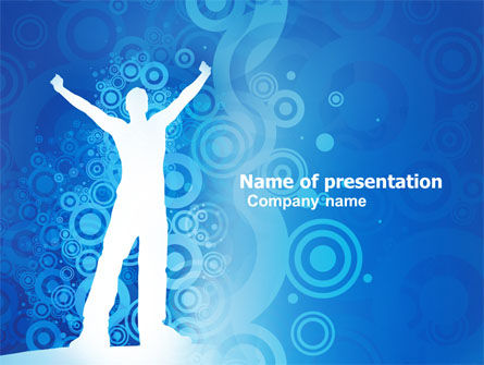 Creativity In Blue PowerPoint Template, 03561, Business Concepts — PoweredTemplate.com