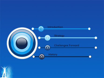 Creativity In Blue PowerPoint Template, Slide 3, 03561, Business Concepts — PoweredTemplate.com