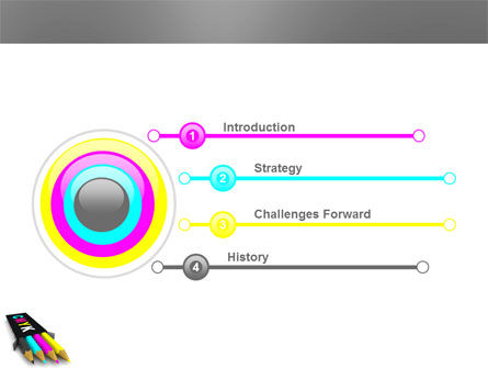 CMYK Colors PowerPoint Template Slide 3