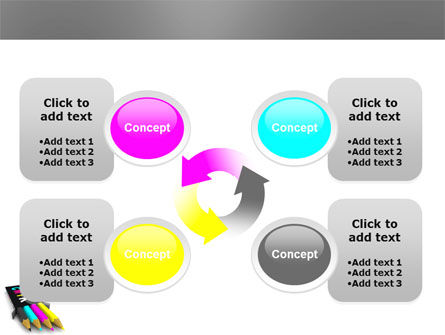 CMYK Colors PowerPoint Template Slide 9