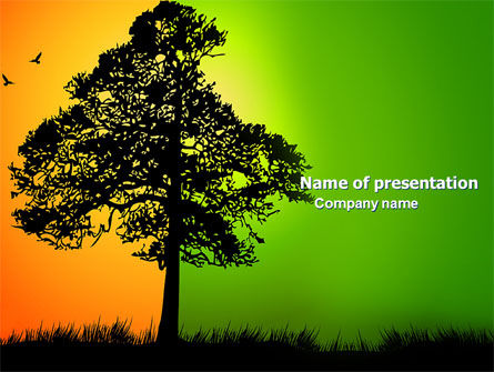 Nature & Environment: Summer and Autumn PowerPoint Template #03566