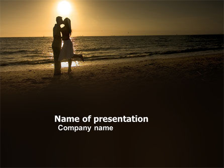 Religious/Spiritual: Romantic Evening PowerPoint Template #03570