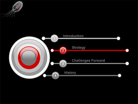 Bacteria Cell PowerPoint Template, Slide 3, 03573, Technology and Science — PoweredTemplate.com