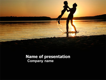 People: Son and Father PowerPoint Template #03575