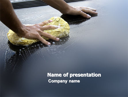 Car Wash PowerPoint Template, 03576, Careers/Industry — PoweredTemplate.com