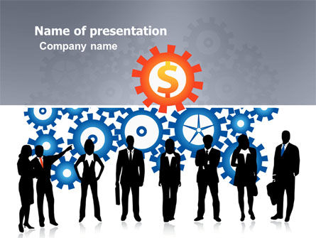 Business Workers PowerPoint Template, 03578, Financial/Accounting — PoweredTemplate.com