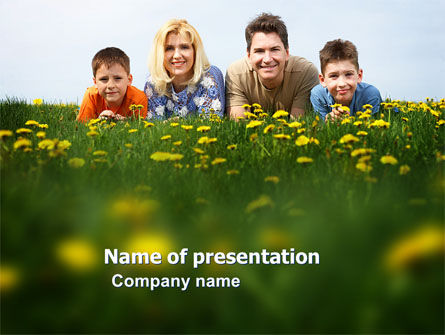 People: Family Outdoors PowerPoint Template #03581