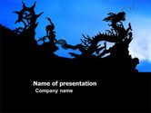 Construction: Chinese Dragons PowerPoint Template #03582