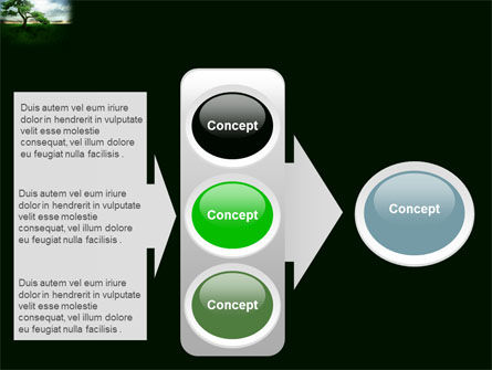 Solitary Tree PowerPoint Template Slide 11