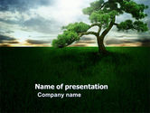 Solitary Tree PowerPoint Template#1