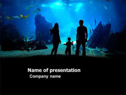 Oceanarium PowerPoint Template, 03586, Education & Training — PoweredTemplate.com