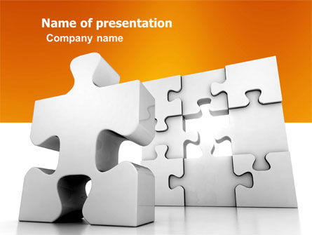 Business Concepts: Business Puzzle PowerPoint Template #03587