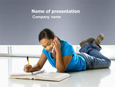 Education & Training: Call By Phone PowerPoint Template #03589