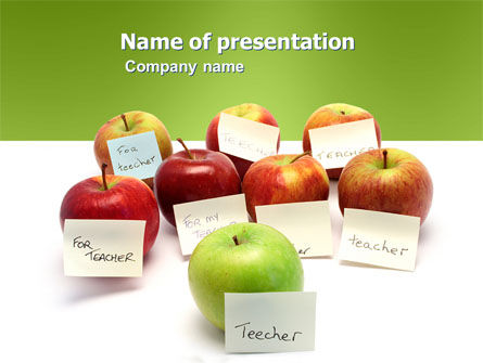 Apple for Teacher - Free Presentation Template for Google