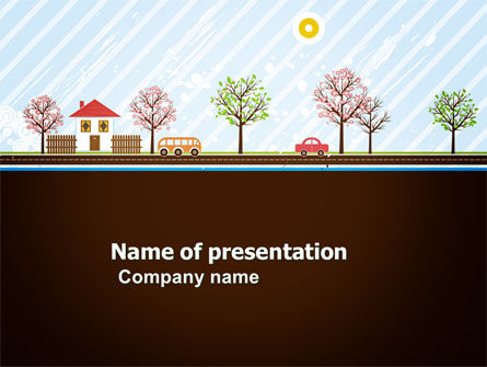 Spring Day PowerPoint Template, 03591, Education & Training — PoweredTemplate.com