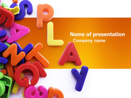 Education & Training: Word Play PowerPoint Template #03592