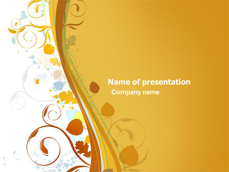 Autumn Theme PowerPoint Template, 03593, Abstract/Textures — PoweredTemplate.com