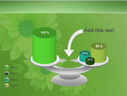 Green Flowers PowerPoint Template Slide 10
