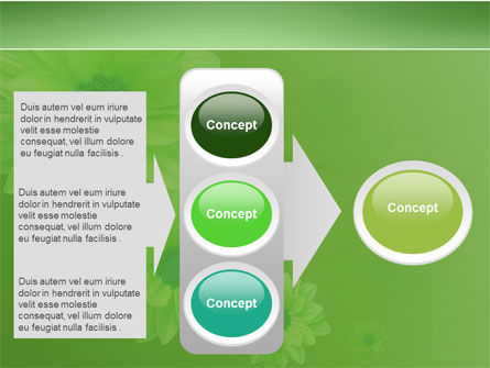 Green Flowers PowerPoint Template Slide 11