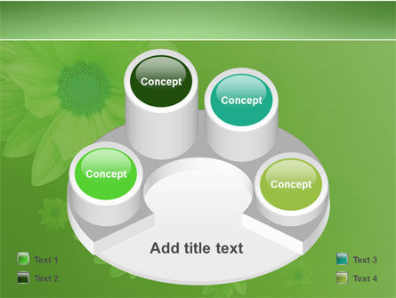 Green Flowers PowerPoint Template Slide 12