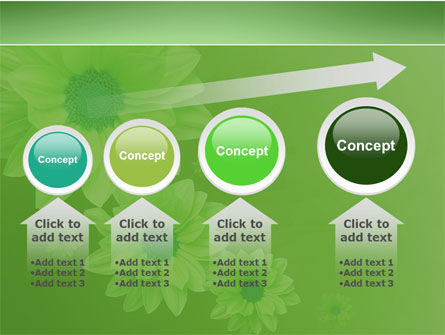 Green Flowers PowerPoint Template Slide 13