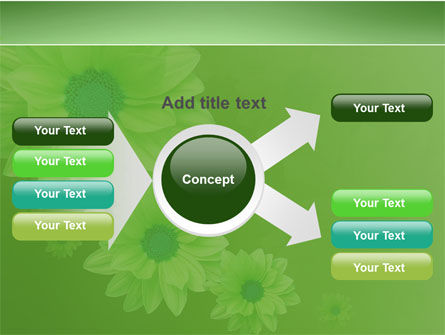 Green Flowers PowerPoint Template Slide 14