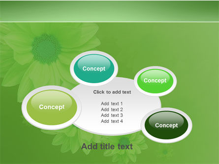 Green Flowers PowerPoint Template Slide 16