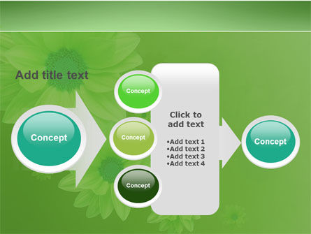 Green Flowers PowerPoint Template Slide 17