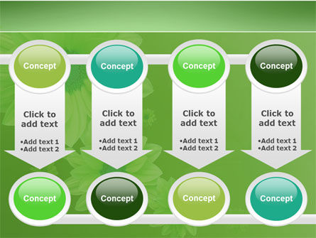Green Flowers PowerPoint Template Slide 18