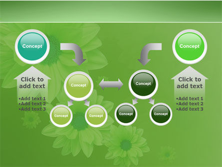 Green Flowers PowerPoint Template Slide 19