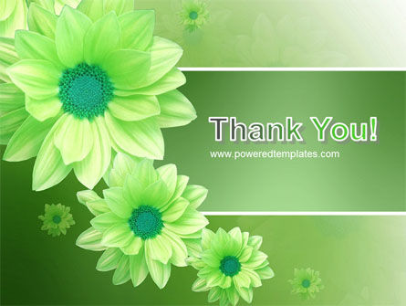 Green Flowers PowerPoint Template Slide 20