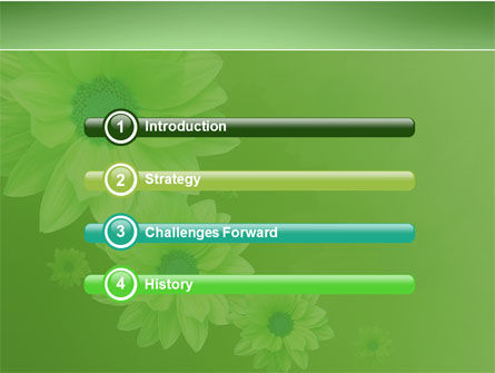 Green Flowers PowerPoint Template, Slide 3, 03594, Holiday/Special Occasion — PoweredTemplate.com