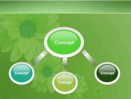 Green Flowers PowerPoint Template, Slide 4, 03594, Holiday/Special Occasion — PoweredTemplate.com