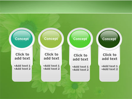 Green Flowers PowerPoint Template Slide 5